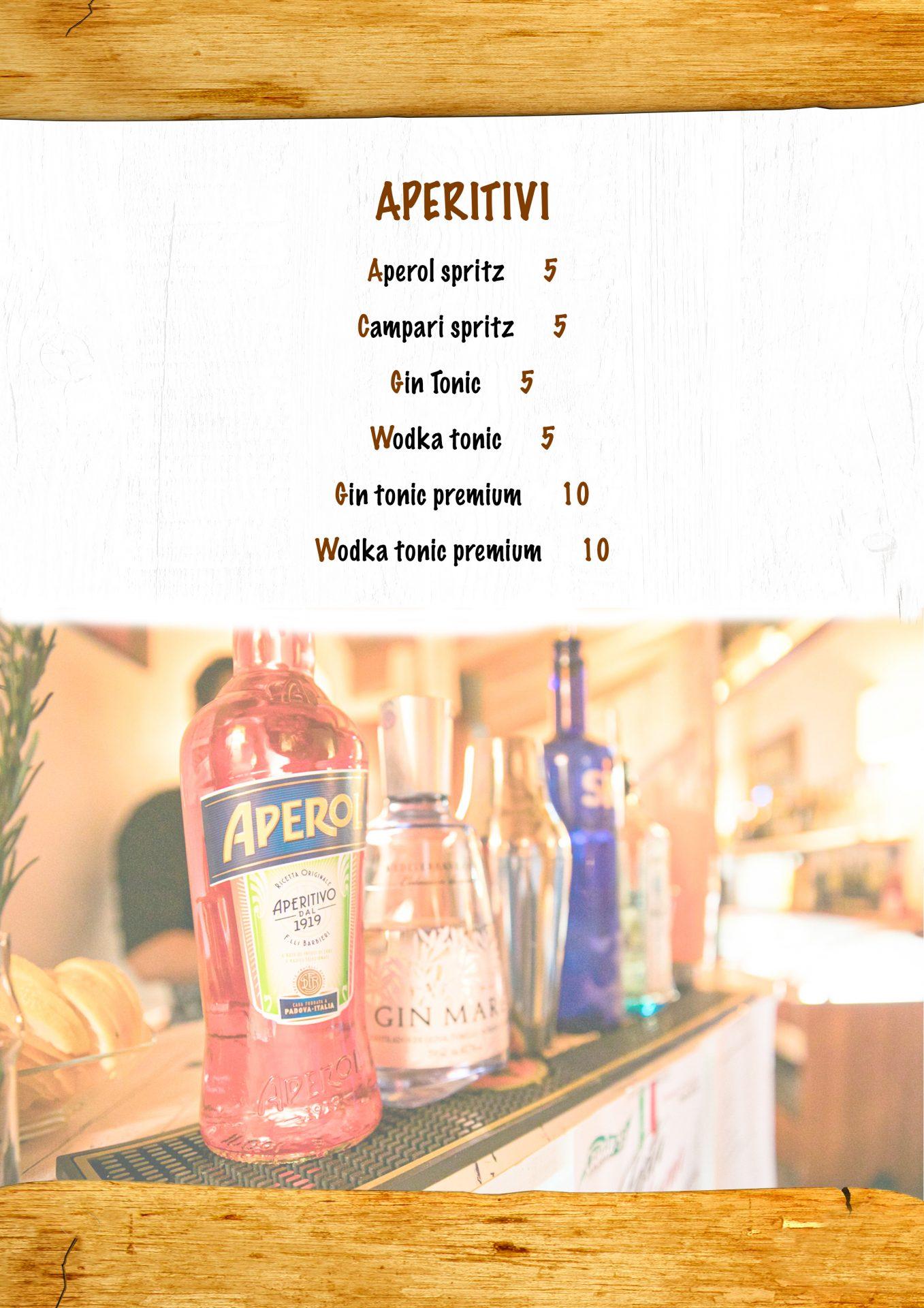 APERITIVI menù casale 93-9