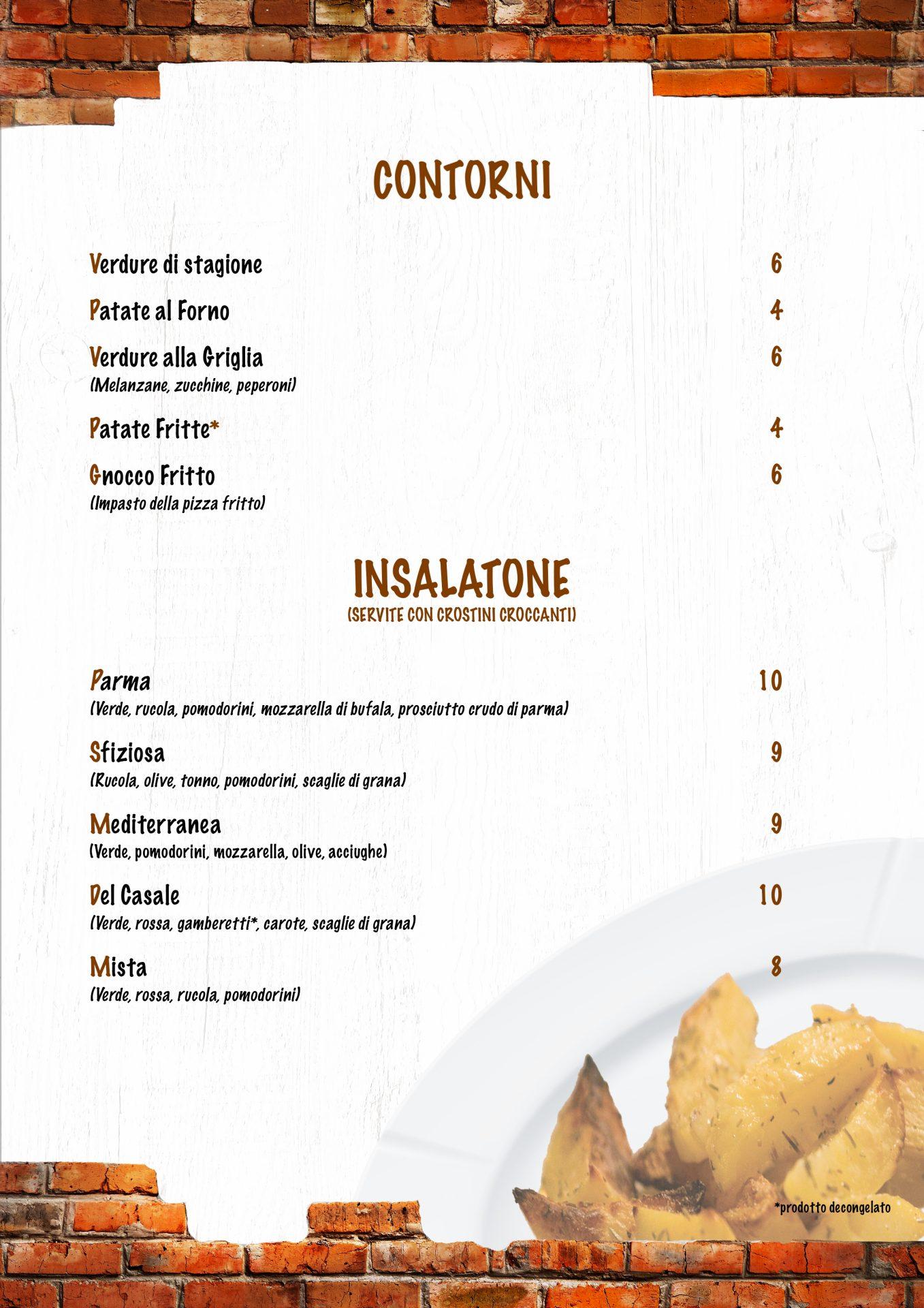 CONTORNI E INSALATONE menù casale 93-11