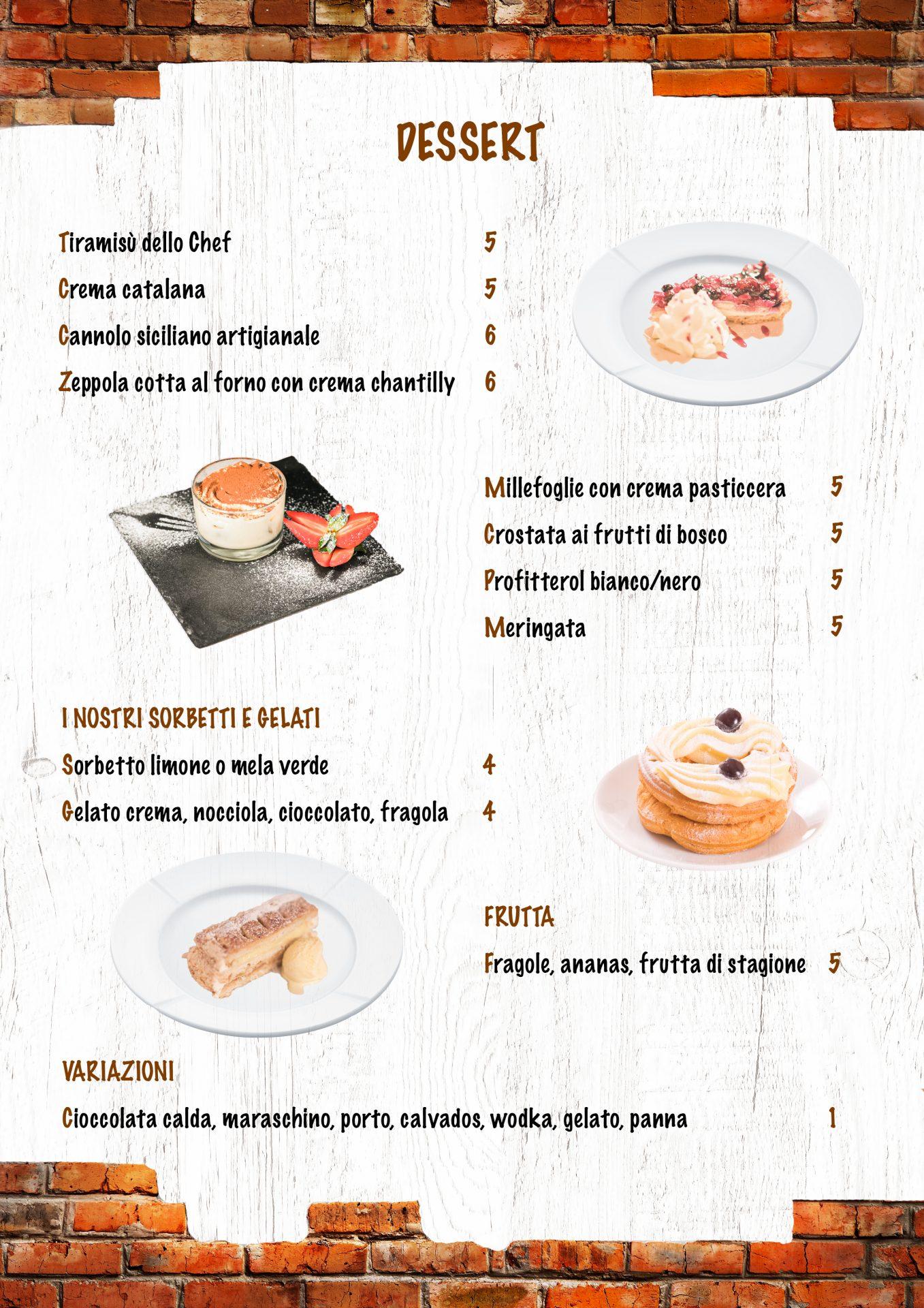 DESSERT menù casale 93-6