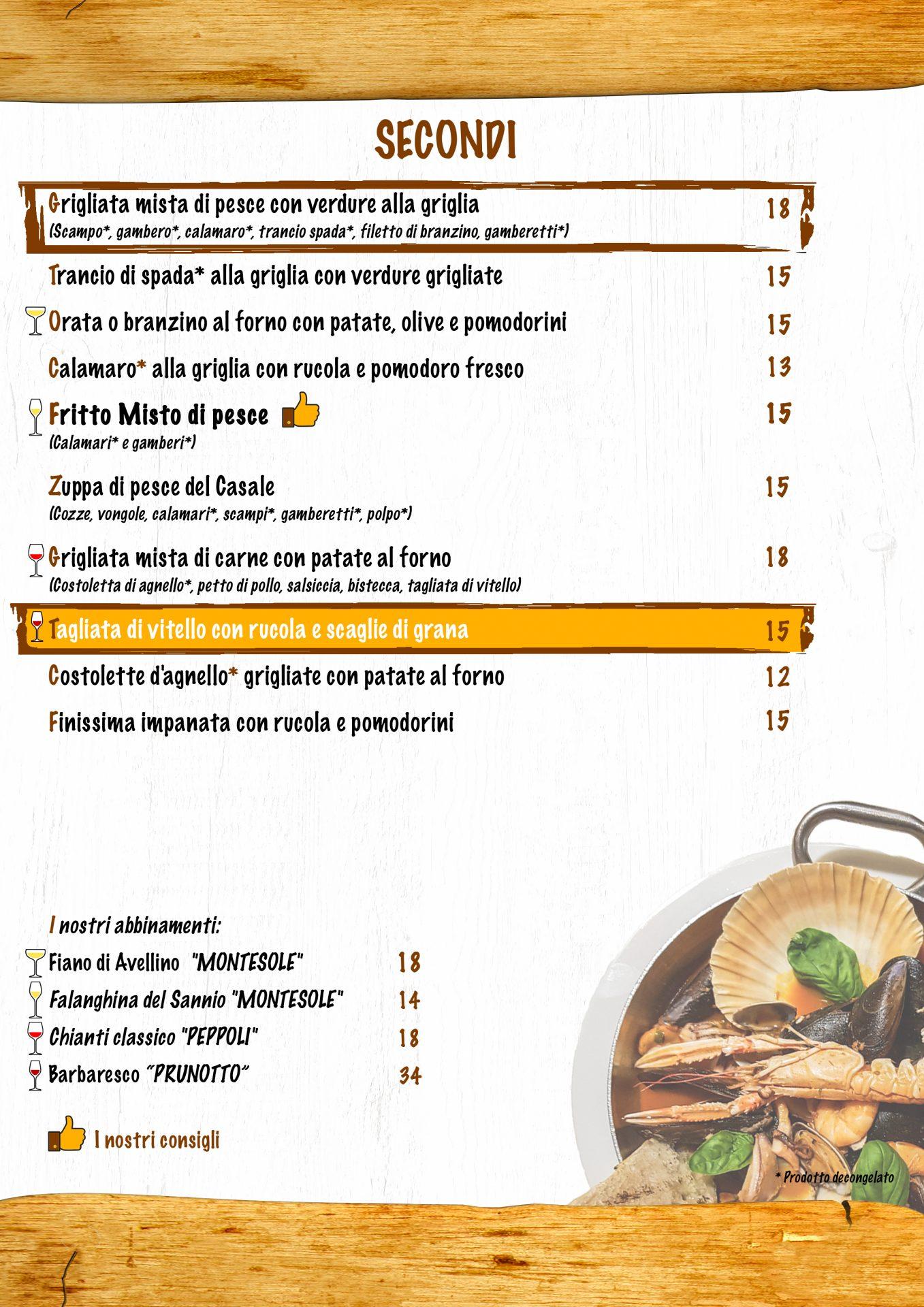 SECONDI menù casale 93-15
